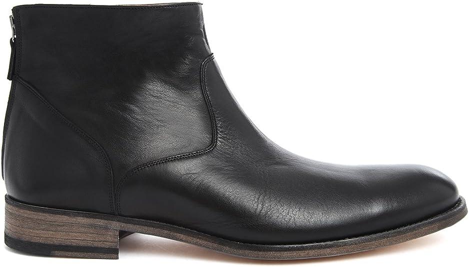 PARIS ANTHOLOGY arrière Homme Zip Boots Boots Cuir ul13TFKJc5
