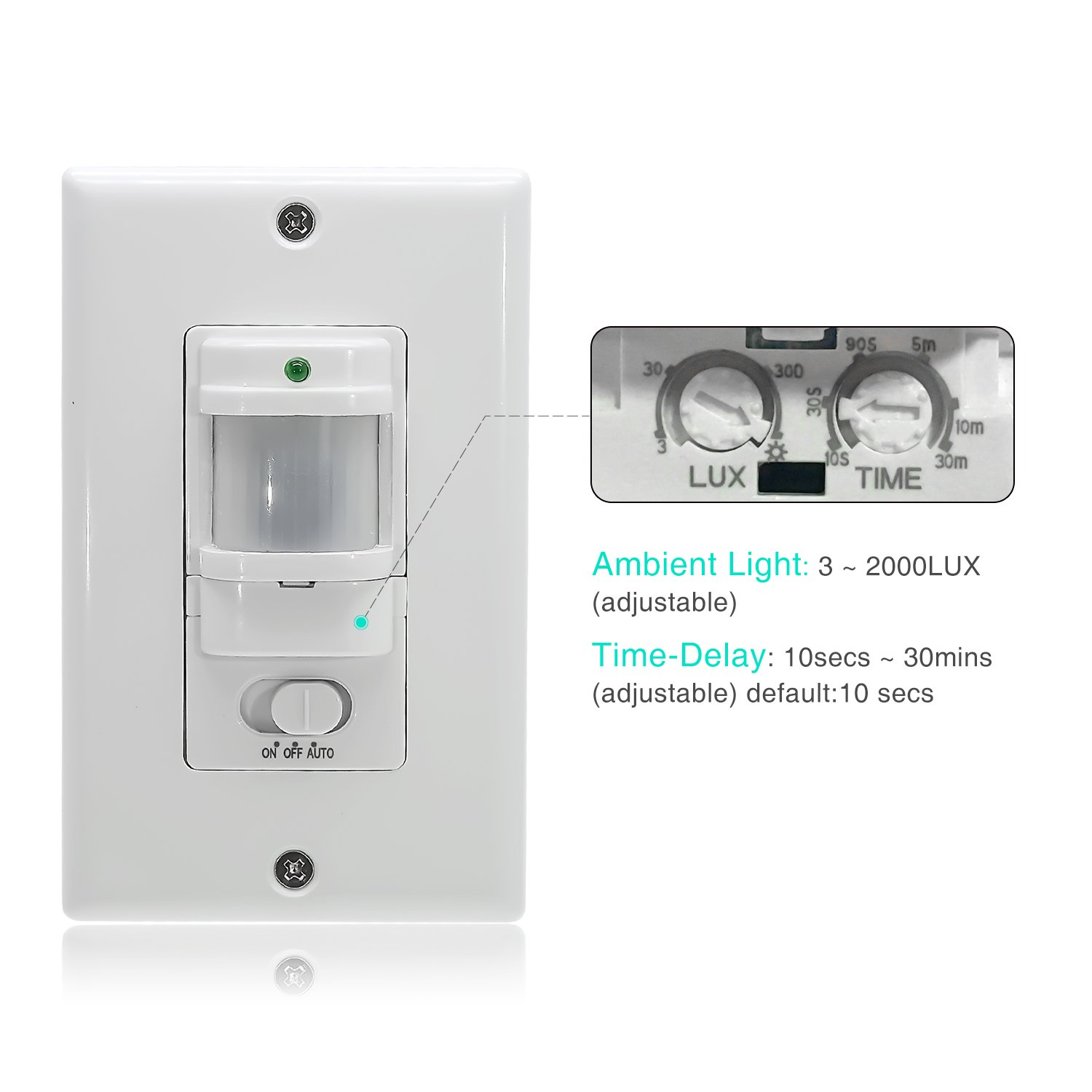 Sensky Bs033c Motion Sensor Light Switch Occupancy Two Way Switching Is Usually Needed On Stairs Corridors Or Large For Corridor And Staircase Neutral Wire Required Industrial Scientific