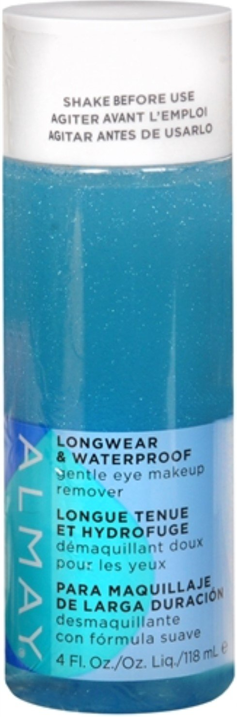 Almay Longwear & Waterproof Gentle Eye Makeup Remover for Women 4 oz (Pack of 5)