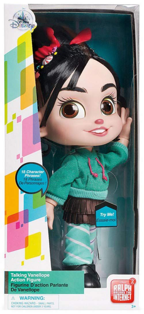 Vanellope Talking Action Figure Doll from Ralph Breaks The Internet Disney .