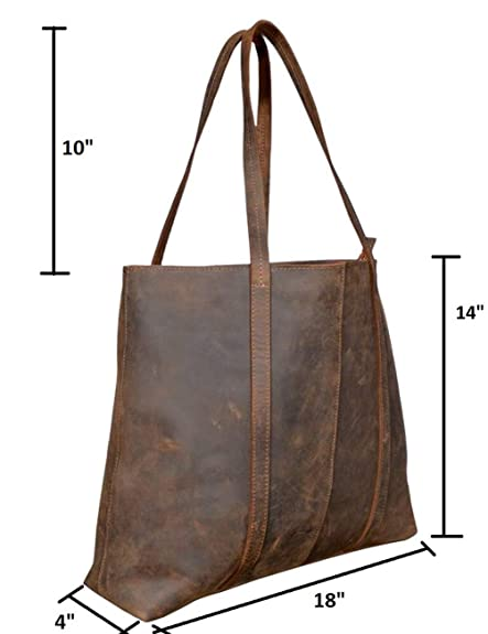 7d87f4a946 Handmade Genuine Leather Brown Color Handbags For Women Rustic Vintage Top  Handle Bags Tote Bags Shoulder Bag For Girls For Office For Work  Handbags   ...