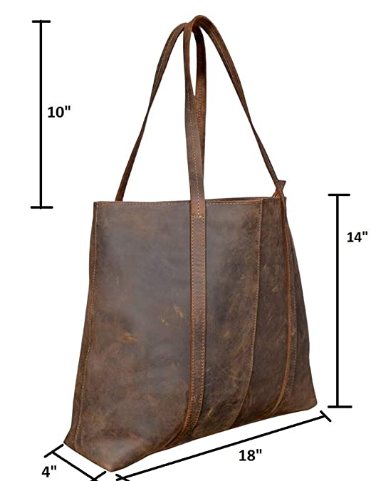 76c5380b0f Handmade Genuine Leather Brown Color Handbags For Women Rustic Vintage Top  Handle Bags Tote Bags Shoulder Bag For Girls For Office For Work  Handbags   ...