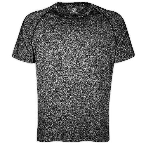 OCIESS Men's Quick-Drying Athletic Short Sleeve T-shirt (Gray-L)