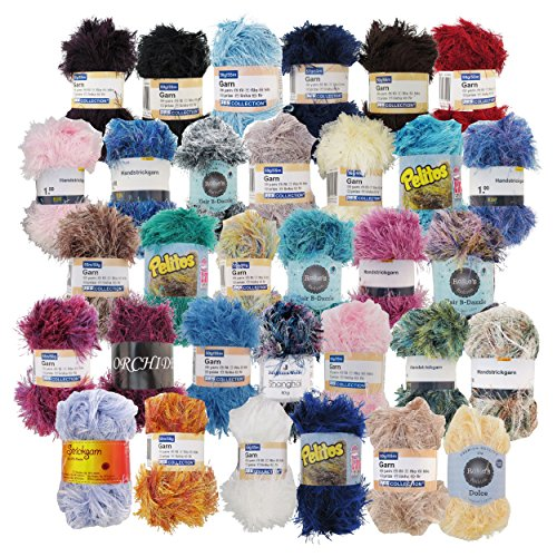Eyelash Yarn Surprise Package - BambooMN - 50g - 12 Skeins by BambooMN