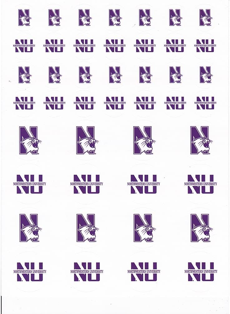 The Fanatic Group Northwestern Wildcats Small Sticker Sheet - 2 Sheets