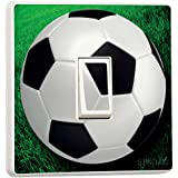 Football Light Switch Stickers green soccer game ball vinyl decal cover skin decal