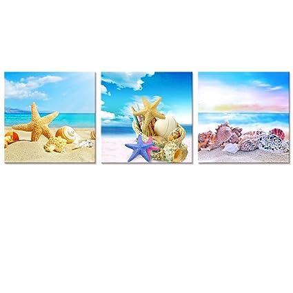Amazon.com: Sea Canvas Wall Art, Sea Painting Art, Beach Picture ...