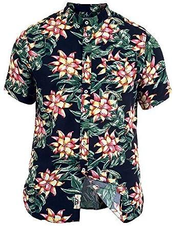 Duke Herren Kingsize Blume Hawaii Kostüm Party Strand Holiday Hemd ...