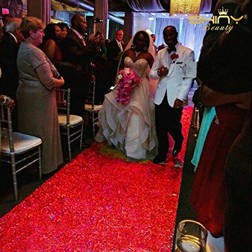 ShinyBeauty Sequin Aisle Runner-Red-36Inchx30Feet Wedding Sequins Carpet Aisles Floor Runner(92x920cm) ShinyBeauty Wedding Co.Ltd