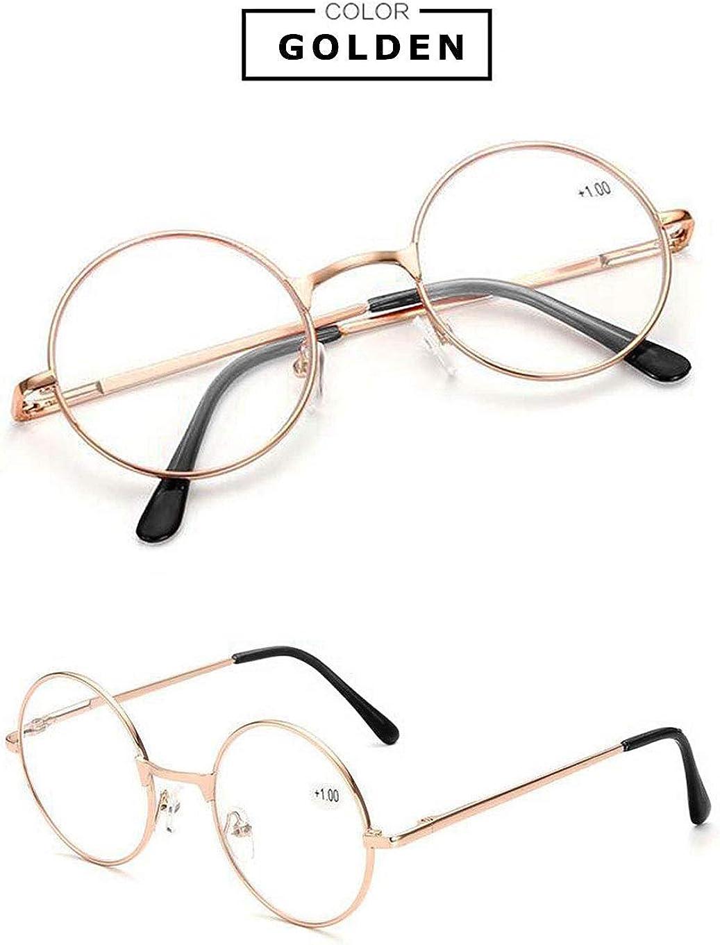 Mujer Vevesmundo Runde Metall Lesebrille Herren Damen Nickelbrille Lennon Brille Lesehilfe Starke Ropa Saconnects Org