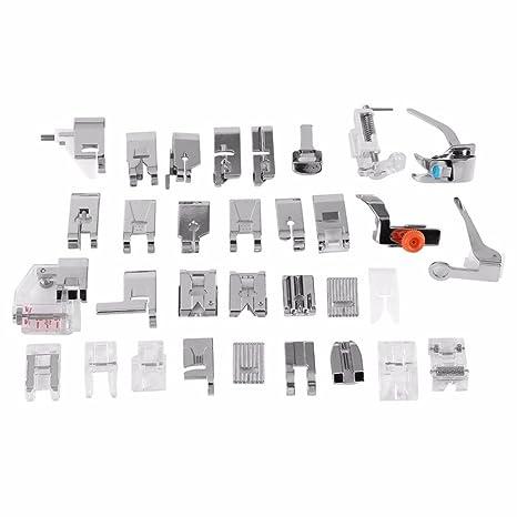 OBEST NIU Kit de 32pcs Multifuncional Prensatelas Accesorios para Maquina de Coser Presser Foot Feet Kit