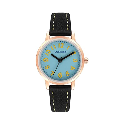 Girls Quartz Digital Water-proof Wrist Watch with Small Dial and Comfortable Flexible Leather