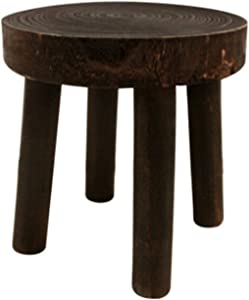 Indoor Wooden Plant Stand, Small Stool Plant Stand, Solid Wood Flower Pot Stand, Small Round Stool Short Stool, Solid Wood Green Plant Succulent Garden Bench