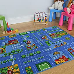 Blue Play Village Roads Children\'s Playroom Mat - 3 Sizes Available