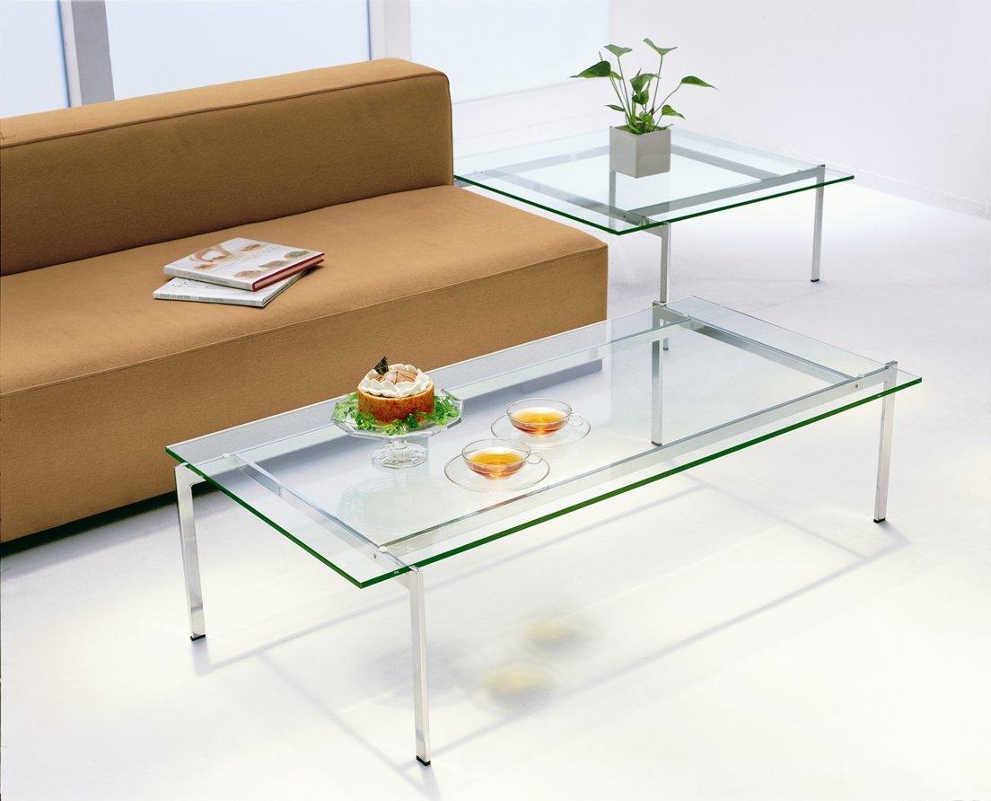 ガラスリビングテーブル EC-113 B00R0KW0Y2