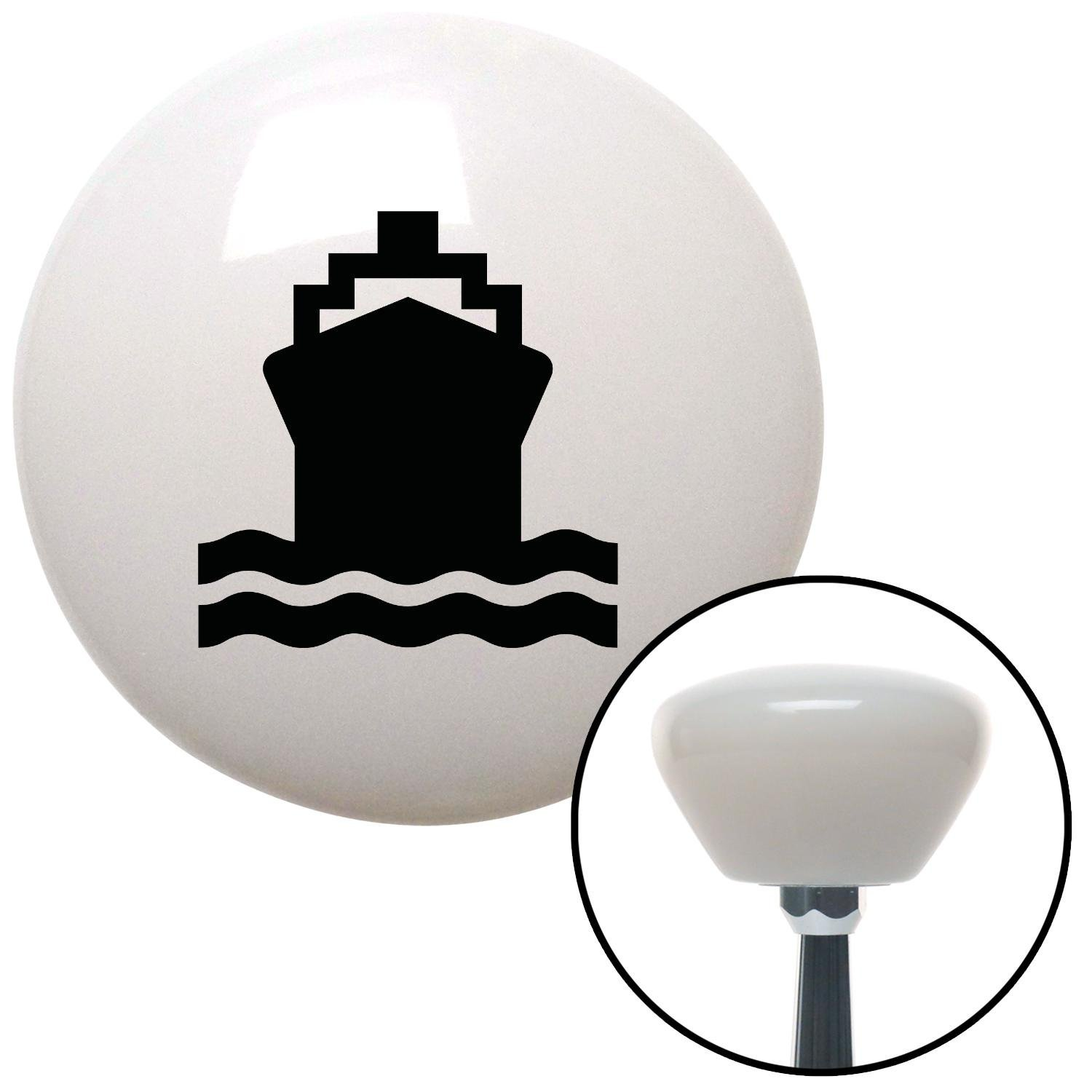 American Shifter 152761 White Retro Shift Knob with M16 x 1.5 Insert Black Cruiseship