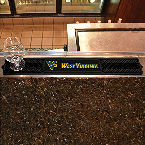 (FANMATS NCAA West Virginia University Mountaineers Vinyl Drink Mat)