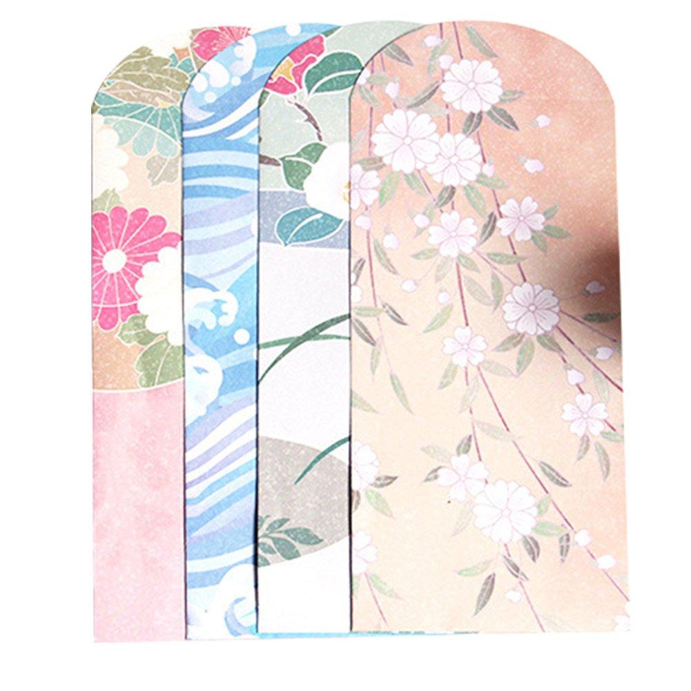Skyeye 10pcs/1Set de style élégant Joli motif peinture de style japonais enveloppe papier à écrire Ensemble de lettre pour carte cadeau