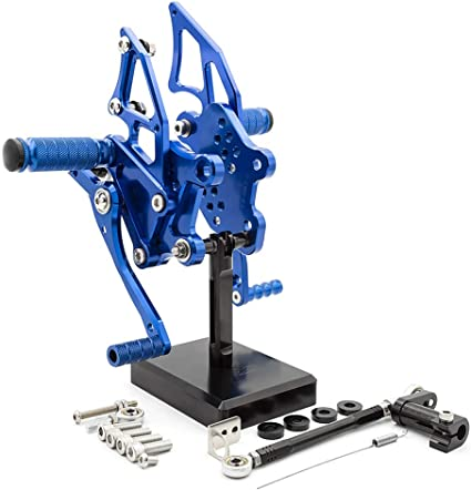 Rearsets For YAMAHA YZF-R25 YZF-R3 2014 2015 2016 2017 Motorcycle Accessories Black Adjustable Footrests Foot Peg Pedal Rear Sets Fully Adjustable Boards Fit