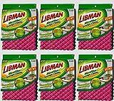 Libman Dish Cloth Set Microfiber Sponge Cloth Waffleweave (6) Packs of 3 (18 microfiber Sponge Cloths Total)