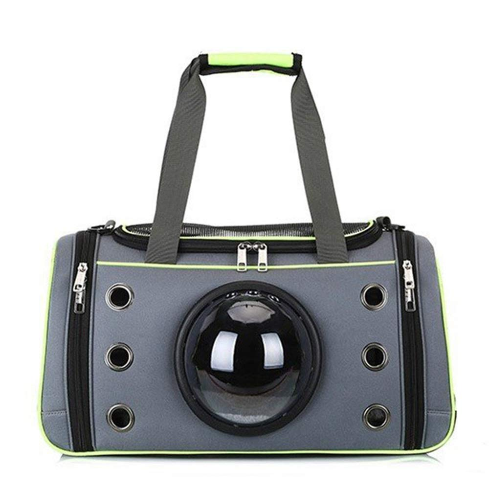 Green M Green M FELICIOO Pet Dog Carrier Bag Breathable Light Cat Puppy Travel Carrier Carrier Portable Aviation Approved Pet Backpack Handbag (color   Green, Size   M)