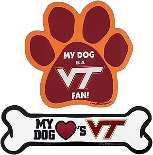 product image for NCAA Virginia Tech Hokies Paw Print Car Magnet