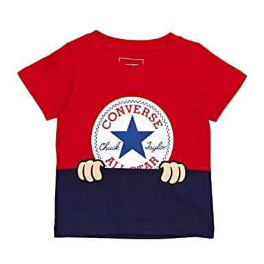 6c01c253b Converse Baby Peeping Chuck Taylor Patch Tee (12M, Red): Amazon.co.uk:  Clothing