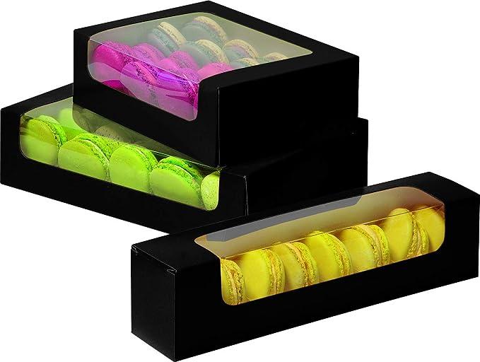Caja para 8 Galletas o Macarons. Dimensiones: 230 x 50 x 55 mm ...