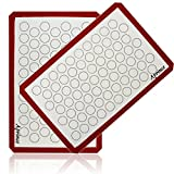Aprince Silicone Baking Mat Set (2) / Non-Stick Cookie Sheet - Half Sheet ...