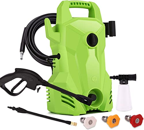 Homdox Power Washer 2200PSI 1.5GPM Electric Pressure Washer 1400W Portable Pressure Washer Electric with External Detergent Dispenser 3 Nozzles