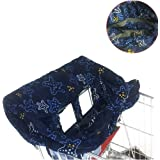 Dining Chair Cushion Cover, 2 in-1 Shopping Cart Cover and High Chair Cover