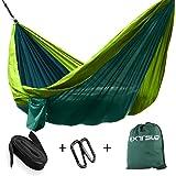 Extsud Amaca sospesa di campeggio in robusto nylon ultraleggero portatile sostenibile con 2moschettoni 2cinghie trasporto sacchetto per viaggio giardino