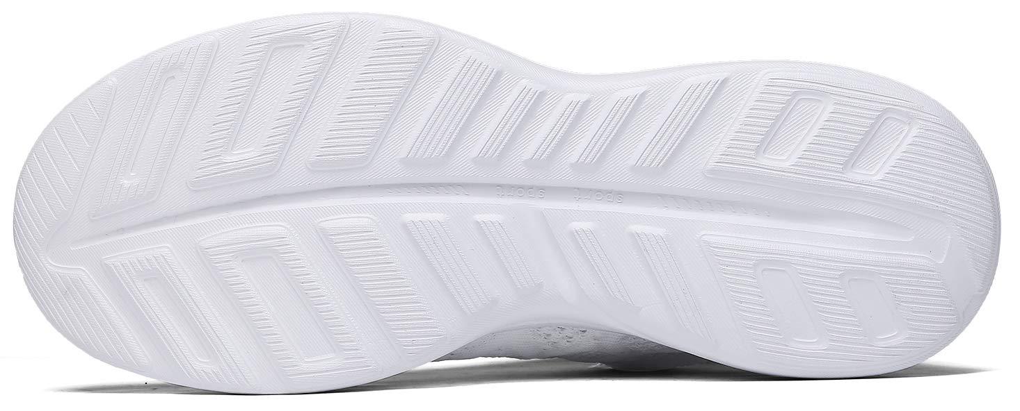 JOOMRA Women Tennis Shoes White Lightweight for Gym Jogging Workout Running Walking Comfortable Summer Fashion Athletic Sneakers Size 11.5