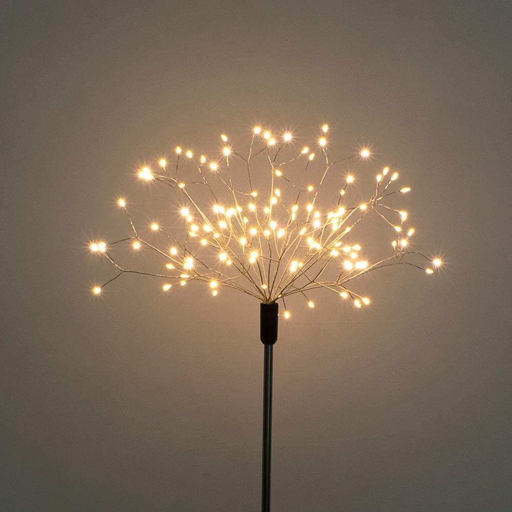 120 Led Solar Powered Fairy String Lights LED Fireworks Starburst Flower Light