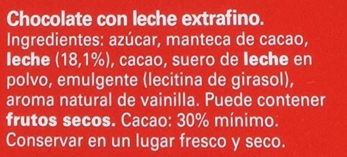 Nestlé Extrafino Chocolate Con Leche - Tableta de Chocolate 300 gr