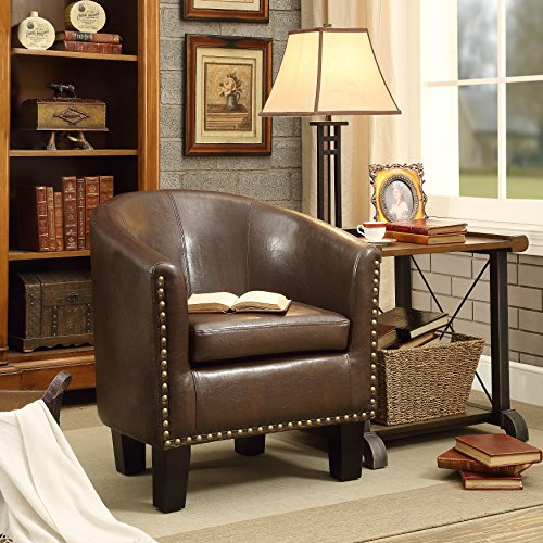 Rosevera C2BN Duilio Club Chair Dark Brown
