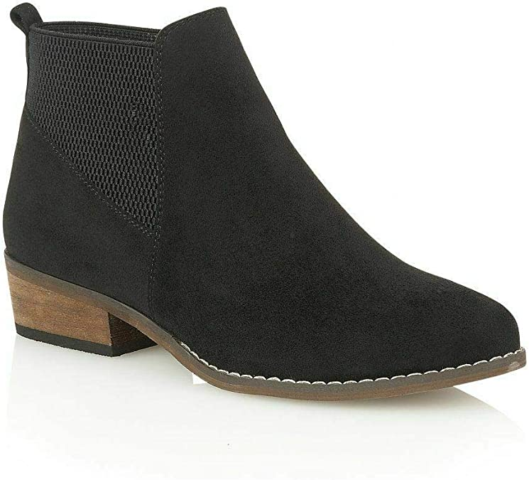 LADIES DOLCIS MAUDE BLACK CHUNKY MEMORY FOAM MID HEEL LACE UP ANKLE BOOTS UK 5