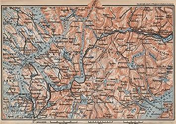 Amazoncom BERGENVOSSVANGEN Sørfjorden Topomap Norway Kart - Norway map amazon