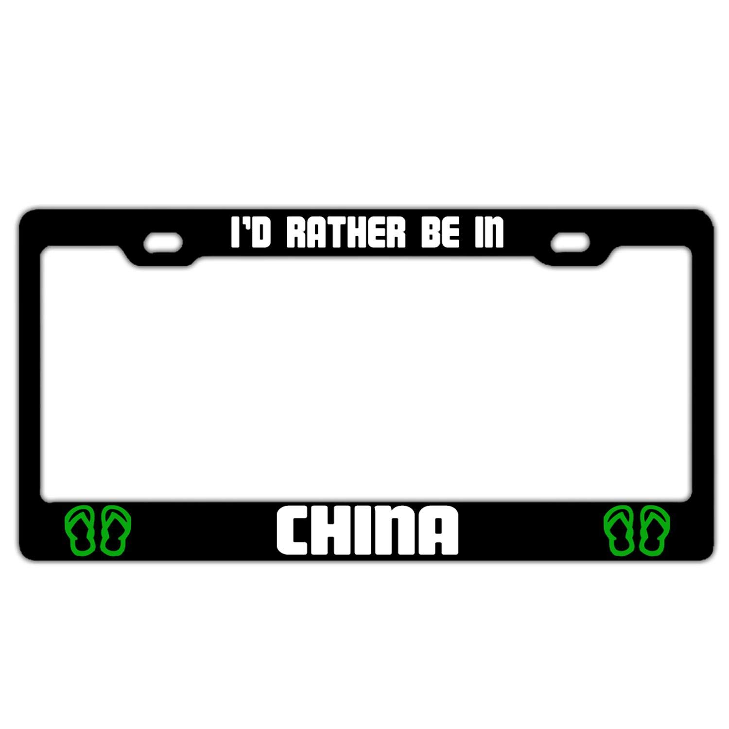 License Plate Frame Car Licenses Plate Cover License Tag Aluminum Metal License Plate Frame
