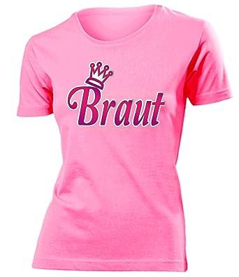 Braut Jga Junggesellinnenabschied Damen Fun T Shirts Amazonde