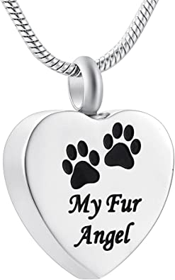Angel Pet Cremation Necklace Pet Loss Gift Jewelry Pet Memorial Jewelry Dog Cremation Jewelry Memorial Necklace Ashes Necklace