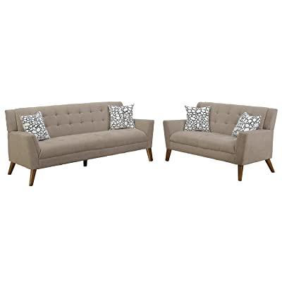 Amazon Com Coaster Tess Casual Grey Sectional Sofa