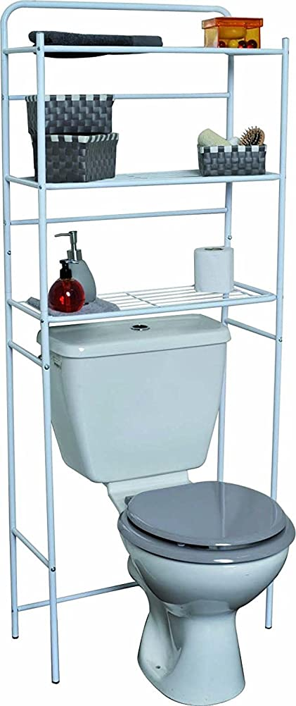 Estantes para bao trendy estantes de metal para metlicas para extractor y estantes de estantes - Mueble encima wc ...