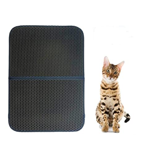 Soddyenergy - Cat Litter Pad, Doble Capa Impermeable Alfombrilla Gato con, para Proteger el