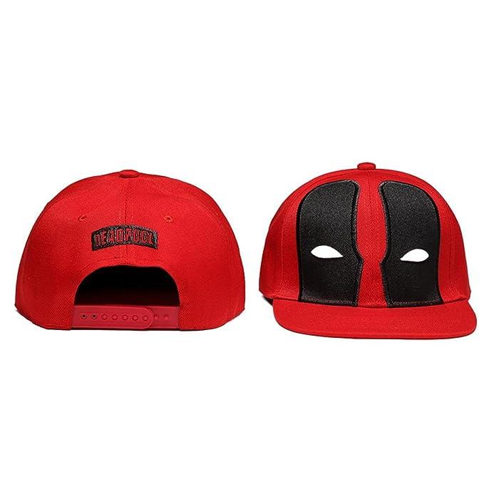 Personalidad de la Moda Deadpool Deadpool Rendimiento de Entrenamiento Hip-Hop Sombrero de Baile Callejero Gorra de béisbol Plana, 2, One Size: Amazon.es: ...
