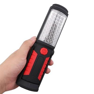 LED Ultra Puissante Lampe de Travail USB Rechargeable Lampe Inspection pour Auto Garage Atelier bricolage avec clip magnétique de Poche avec Base d'Aimant et Crochet à Suspendre pour Camping / Randonée /