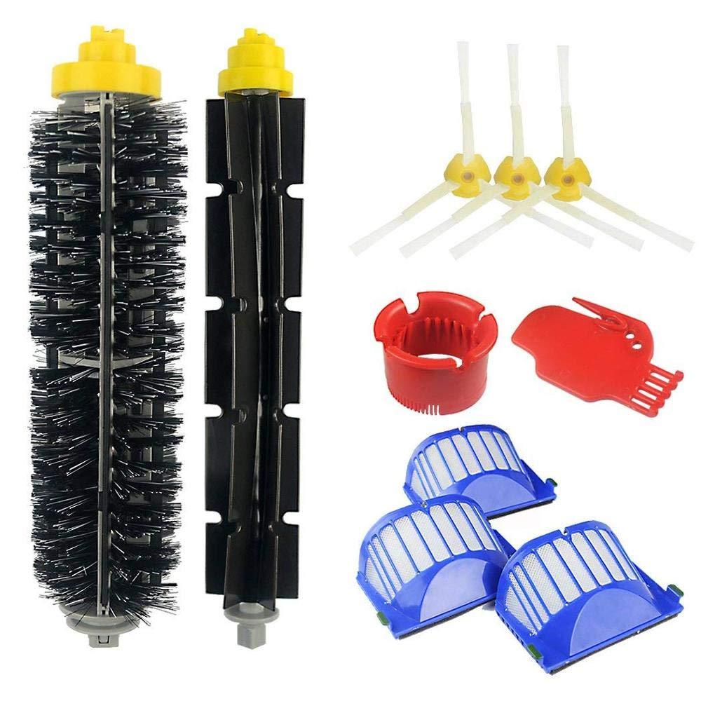ANJUYA Side Brushes Flexible Beater 10PCS Vacuum Cleaner Vacuum Filter