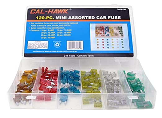 amazon com cal hawk capcfm assorted car truck mini fuse 5 7 5 10 amazon com cal hawk capcfm assorted car truck mini fuse 5 7 5 10 15 20 25 30 amp automotive