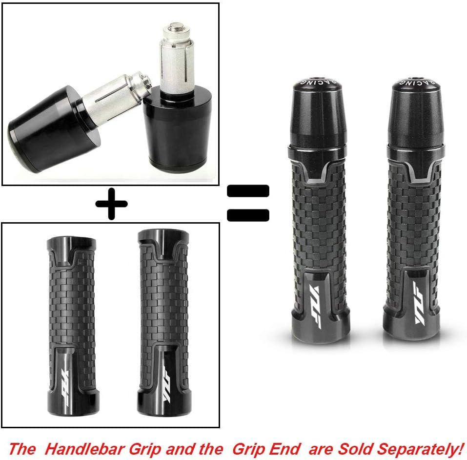 Universal 7//8 22mm Motorcycle Handlebar Grip For Yamaha YZF R1 R6 R125 R6S R25 R3 600R Titanium