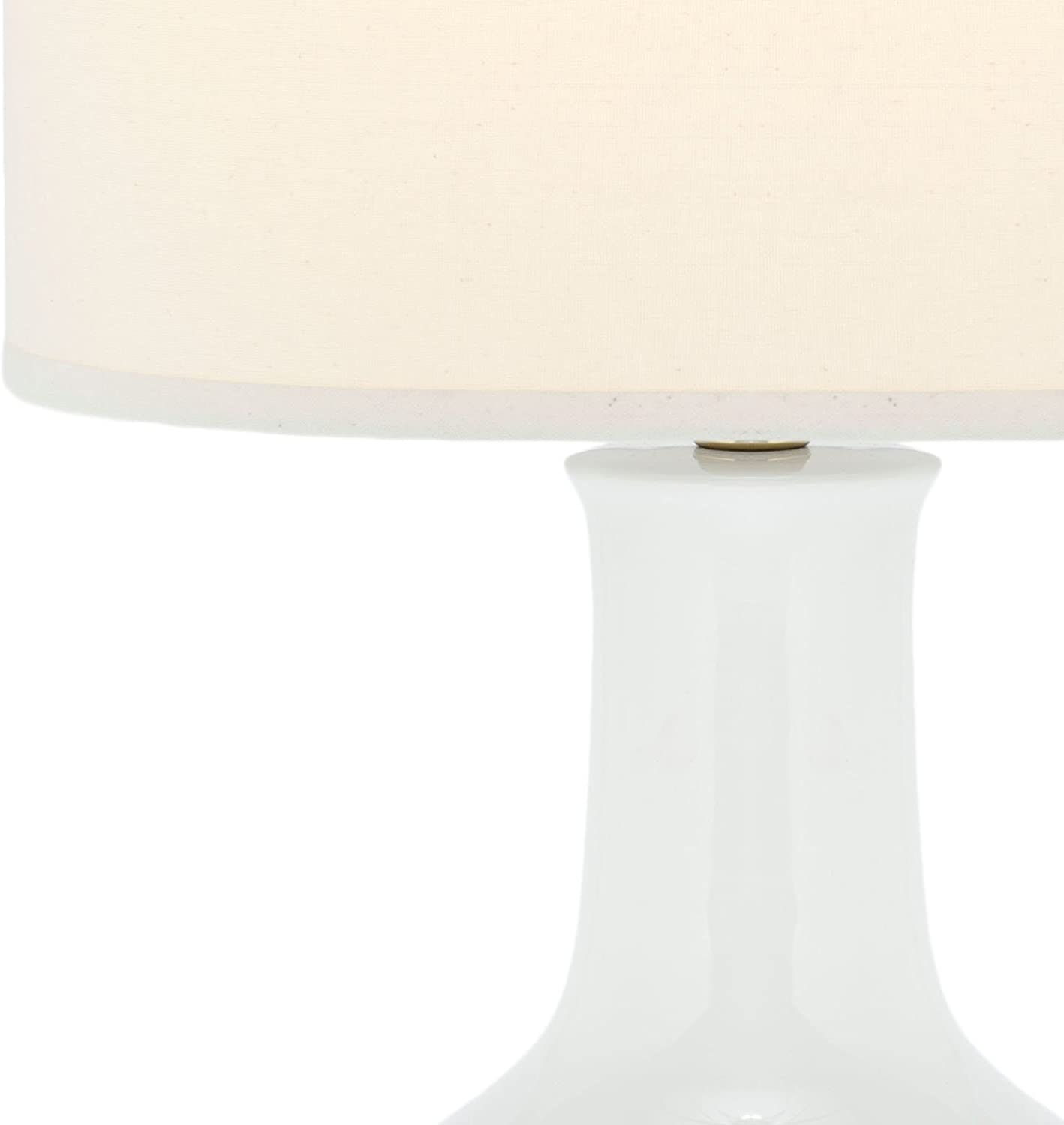 Amazon Com Safavieh Lighting Collection Paris White Ceramic 27 Inch Table Lamp Home Kitchen